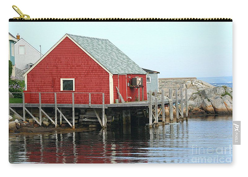 Peggy's Cove Carry-all Pouch featuring the photograph Fishermans House On Peggys Cove by Thomas Marchessault