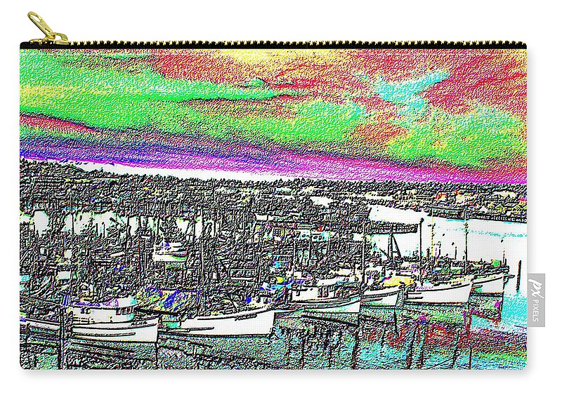 Seattle Carry-all Pouch featuring the photograph Fishermans Terminal 2 by Tim Allen