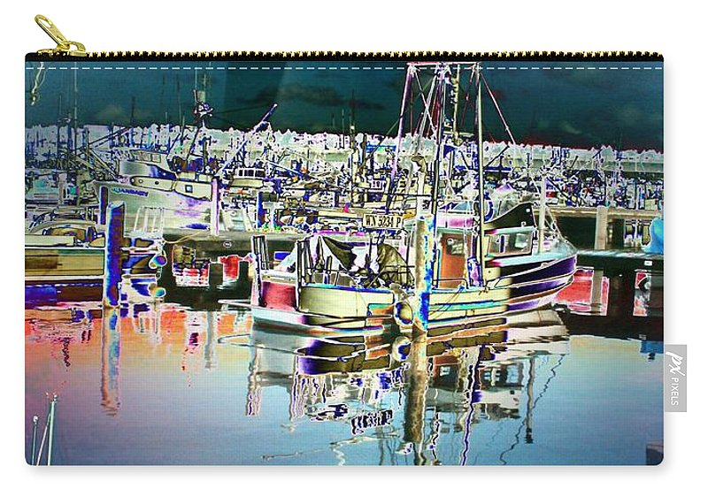 Seattle Carry-all Pouch featuring the photograph Fishermans Terminal 3 by Tim Allen