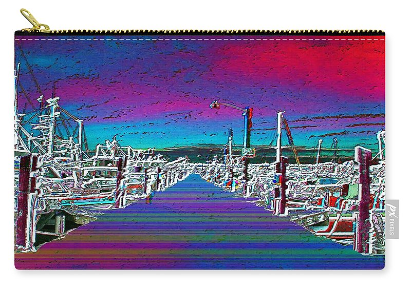 Seattle Carry-all Pouch featuring the photograph Fishermans Terminal Pier by Tim Allen
