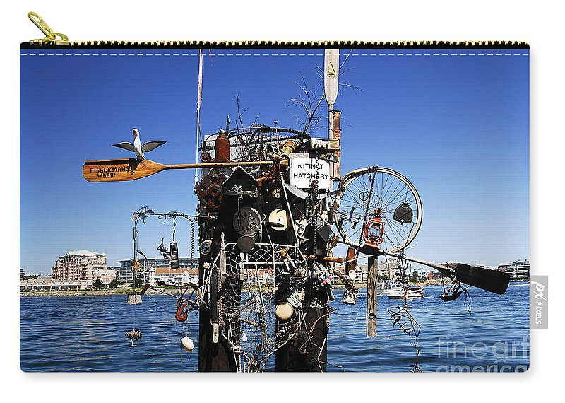 Fisherman Carry-all Pouch featuring the photograph Fisherman's Wharf by David Lee Thompson