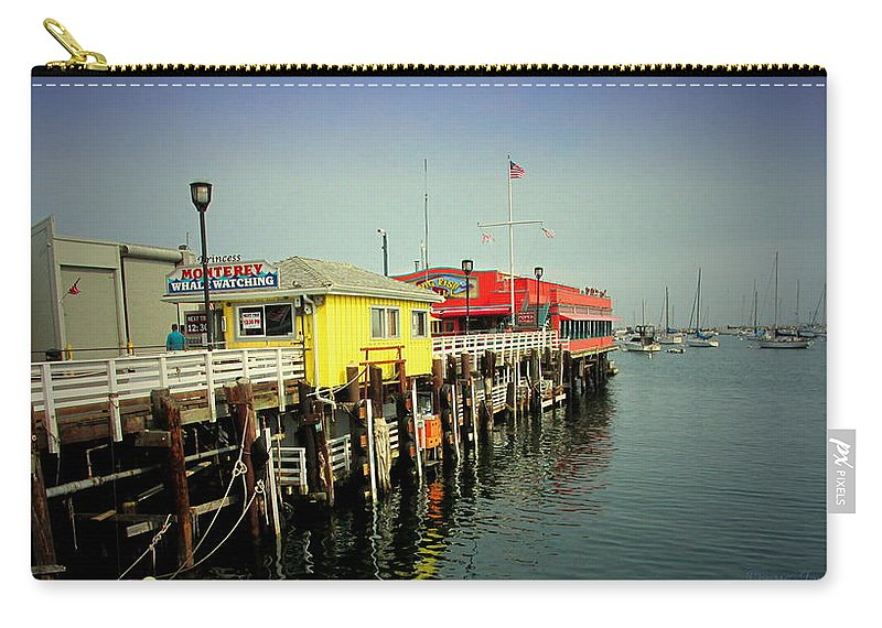 Wharf Carry-all Pouch featuring the photograph Fishermans Wharf Monterey Ca by Joyce Dickens