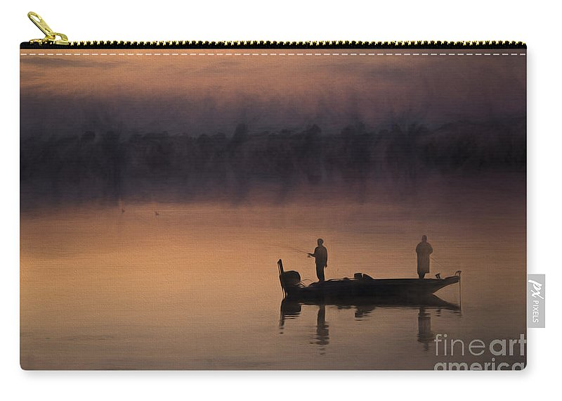 Fishermen Carry-all Pouch featuring the photograph Fishermen At Dusk by David Arment