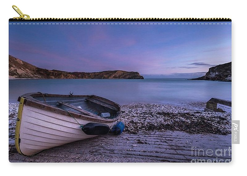 Fishing After Hours Carry-all Pouch featuring the photograph Fishing After Hours by Ad Salaheddine