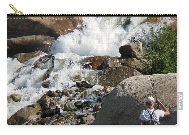 Fishing Carry-all Pouch featuring the photograph Fishing Anyone by Amanda Barcon