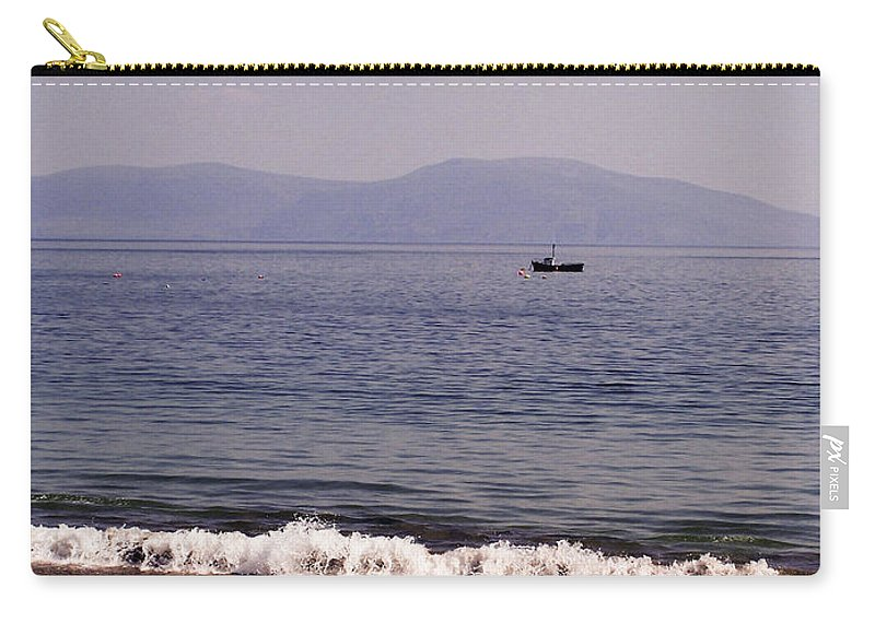 Irish Carry-all Pouch featuring the photograph Fishing Boat On Ventry Harbor Ireland by Teresa Mucha