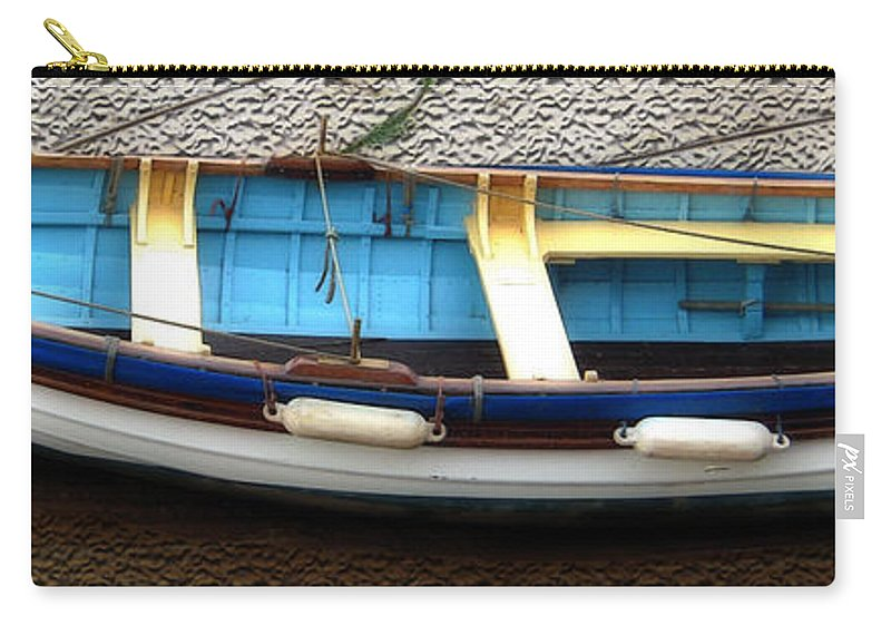 Aqua Carry-all Pouch featuring the photograph Fishing Boat by Svetlana Sewell