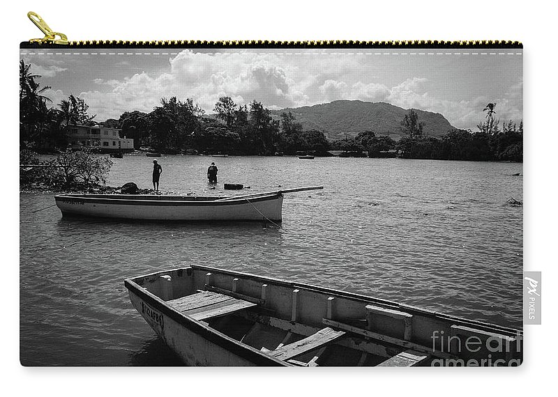 Fisherman Carry-all Pouch featuring the photograph Fishing Boats In Mahebourg by Clic- Cat