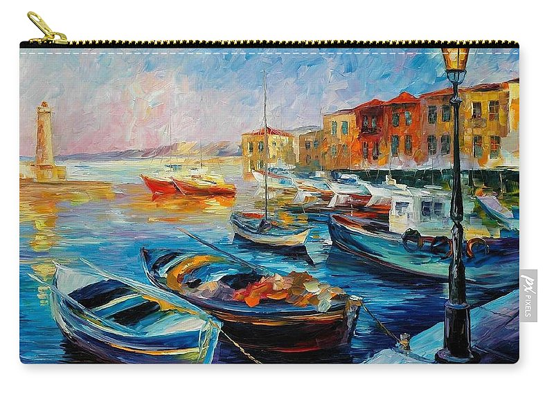 Afremov Carry-all Pouch featuring the painting Fishing Boats by Leonid Afremov