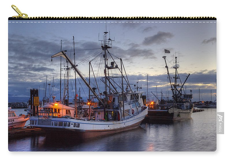 Fishing Boats Carry-all Pouch featuring the photograph Fishing Fleet by Randy Hall