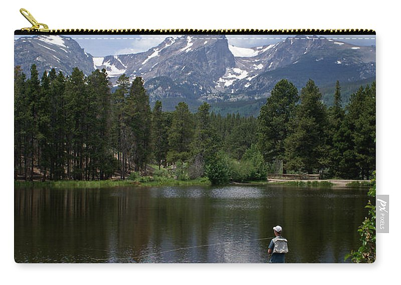 Fishing Carry-all Pouch featuring the photograph Fishing In Colorado by Heather Coen