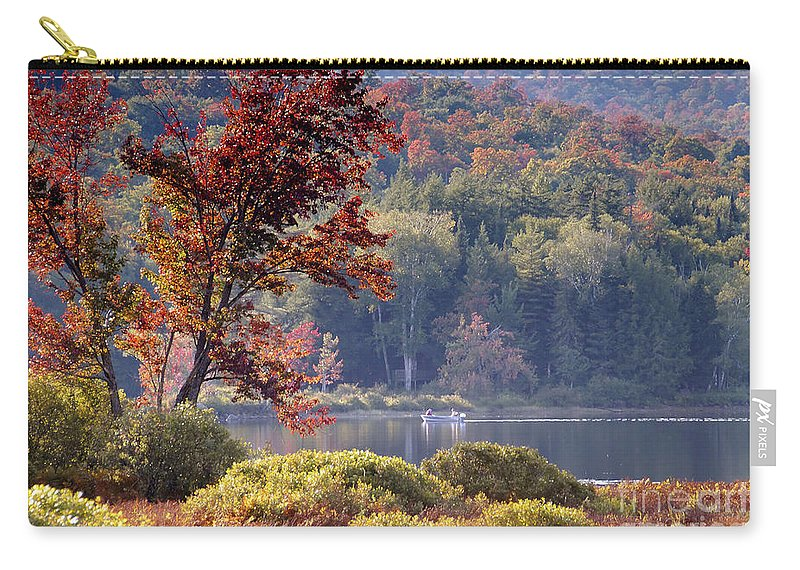 Adirondack Mountains Carry-all Pouch featuring the photograph Fishing The Adirondacks by David Lee Thompson