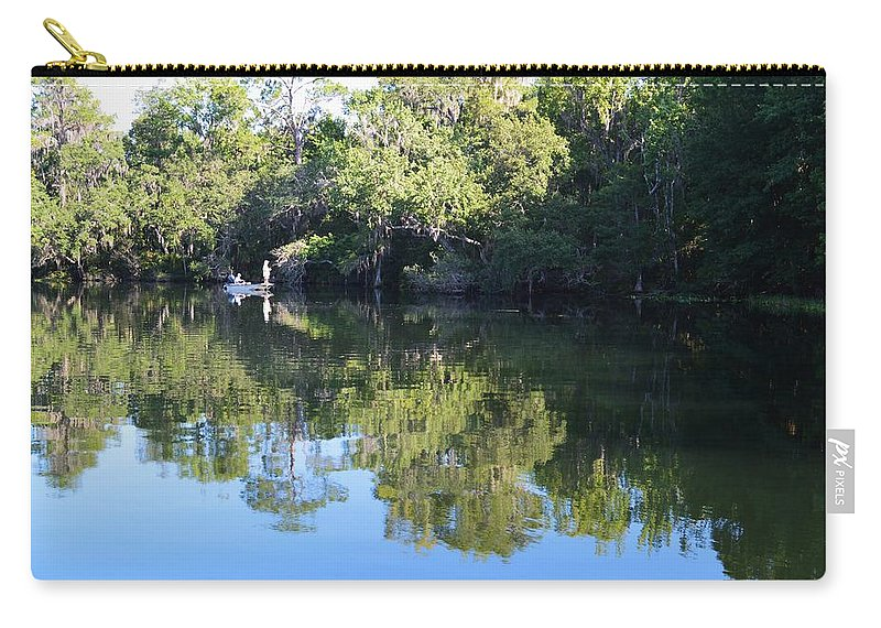 Fishing The Withlacoochee River Carry-all Pouch featuring the photograph Fishing The Withlacoochee River. by Warren Thompson