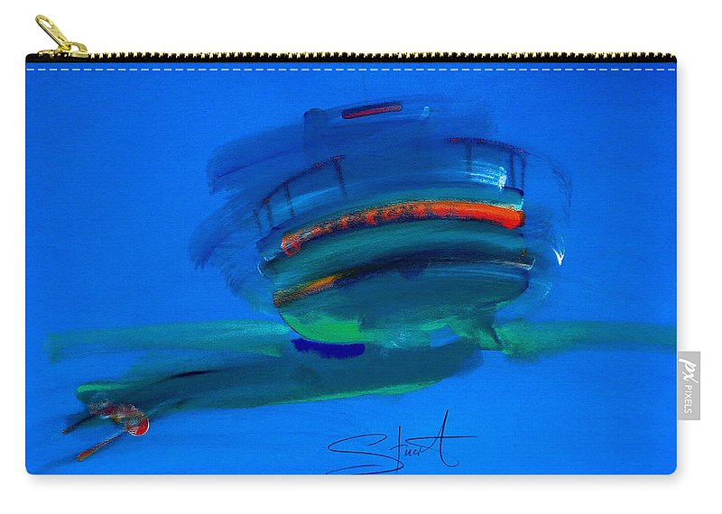 Hastings Carry-all Pouch featuring the painting Fishing Trawler Hastings Stade by Charles Stuart
