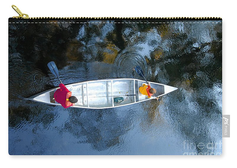 Father Carry-all Pouch featuring the photograph Fishing Trip by David Lee Thompson