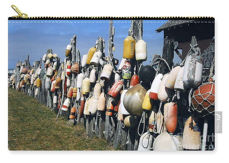 Buoys Carry-all Pouch featuring the photograph Fishing Village by David Lee Thompson
