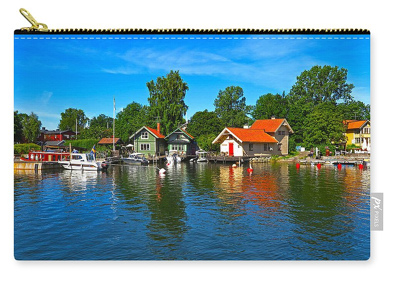 Vaxholm Carry-all Pouch featuring the photograph Fishing Village Of Vaxholm Sweden by Greg Matchick