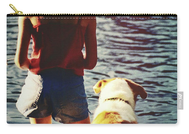Pup Carry-all Pouch featuring the photograph Fishing With The Pup by JAMART Photography