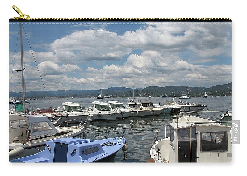 Fishingsboats Carry-all Pouch featuring the photograph Fishingboats by Christiane Schulze Art And Photography