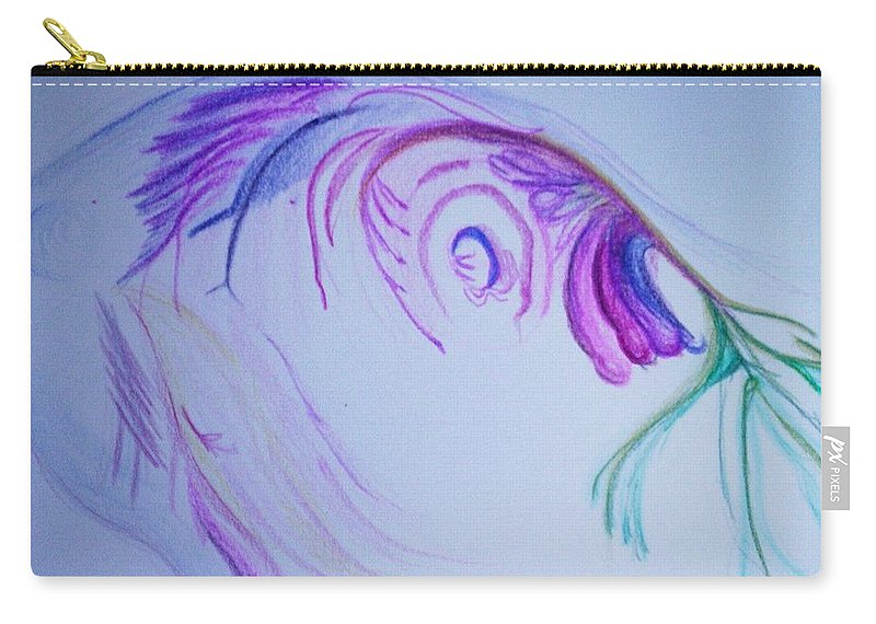 Abstract Painting Carry-all Pouch featuring the painting Fishy by Suzanne Udell Levinger