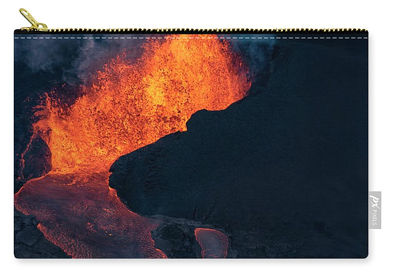 Fissure 8 Carry-all Pouch featuring the photograph Fissure 8 by Christopher Johnson