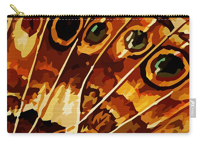 Butterfly Carry-all Pouch featuring the digital art Five Eyes by Max Steinwald