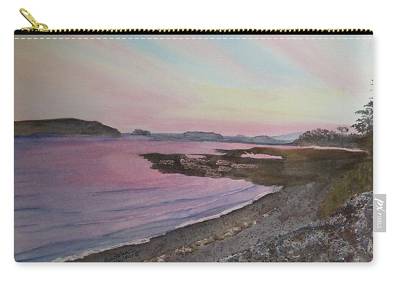Five Islands Carry-all Pouch featuring the painting Five Islands - Draft IIi by Joel Deutsch