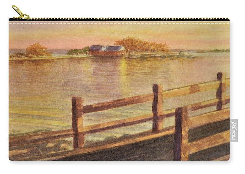 Landscape Carry-all Pouch featuring the painting Five Islands Sunset by Phyllis Tarlow