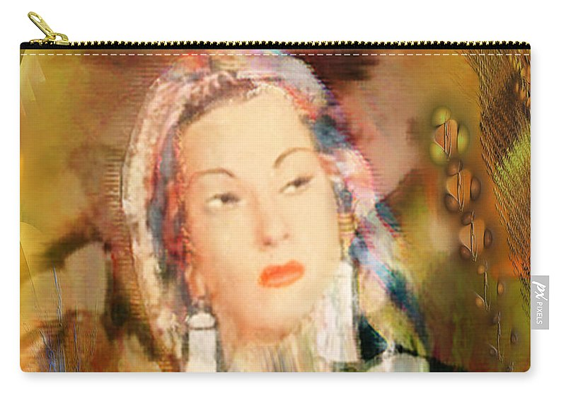 Carry-all Pouch featuring the digital art Five Octaves - Tribute To Yma Sumac by John Beck