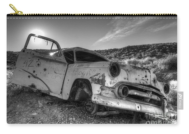 Transportation Art Carry-all Pouch featuring the photograph Fixer Upper by Bob Christopher
