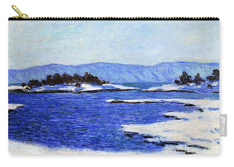 Fjord At Christiania Carry-all Pouch featuring the painting Fjord At Christiania by Claude Monet