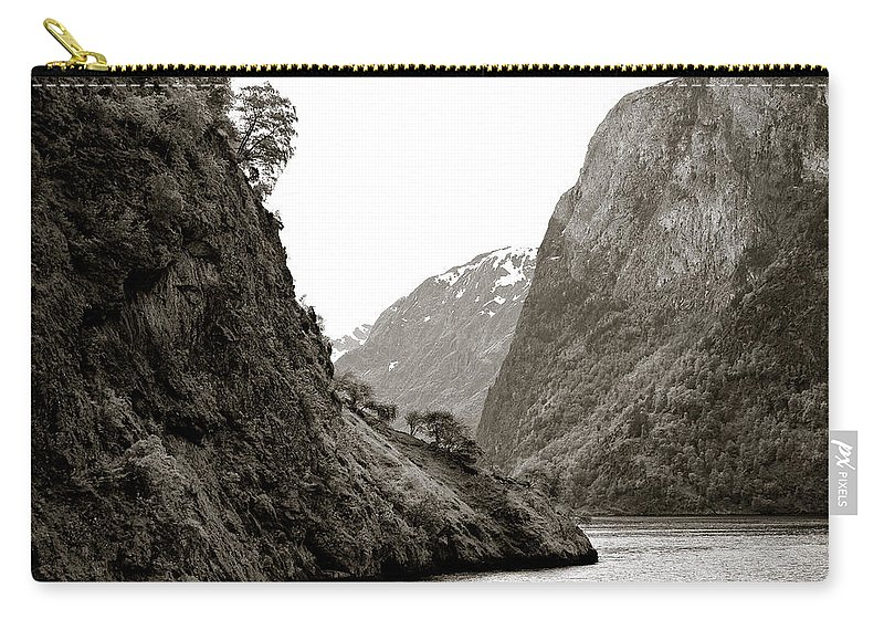 Norway Carry-all Pouch featuring the photograph Fjord Beauty by Dave Bowman