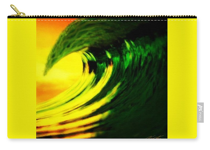 Surf Carry-all Pouch featuring the digital art Fl O J by Keith Kos