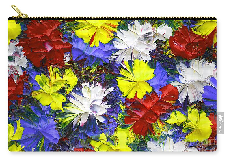 Abstract Carry-all Pouch featuring the painting Abstract Fl12016 by Mas Art Studio