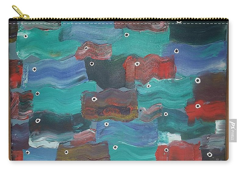 Water Carry-all Pouch featuring the painting Flag Fish by Peter Nervo