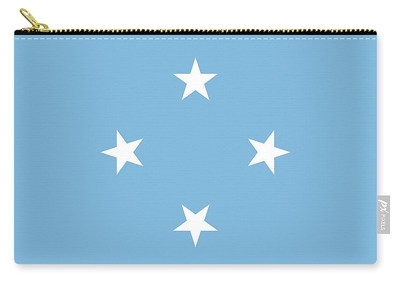 Chuuk Carry-all Pouch featuring the digital art Flag Of Micronesia by Roy Pedersen