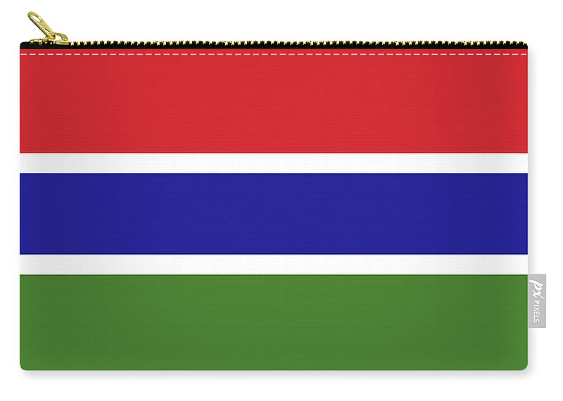 Africa Carry-all Pouch featuring the digital art Flag Of The Gambia by Roy Pedersen