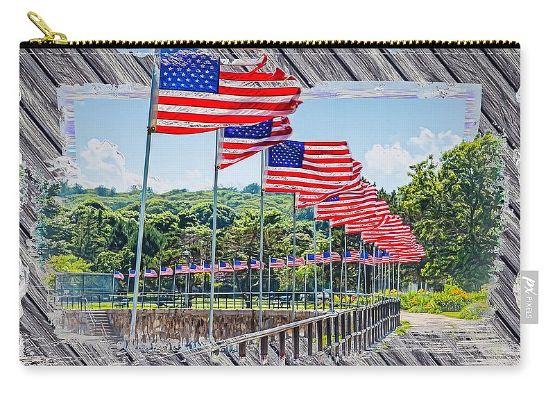 Gloucester Carry-all Pouch featuring the photograph Flag Walk 2 by John M Bailey