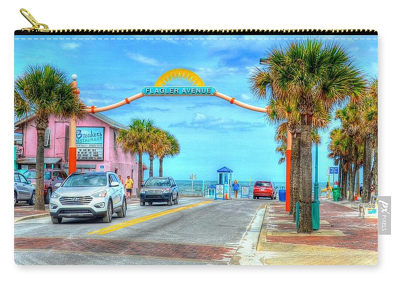 Beach Carry-all Pouch featuring the photograph Flagler Avenue by Debbi Granruth
