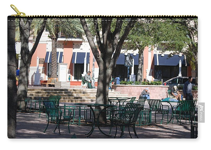 Park Carry-all Pouch featuring the photograph Flagler Park by Rob Hans