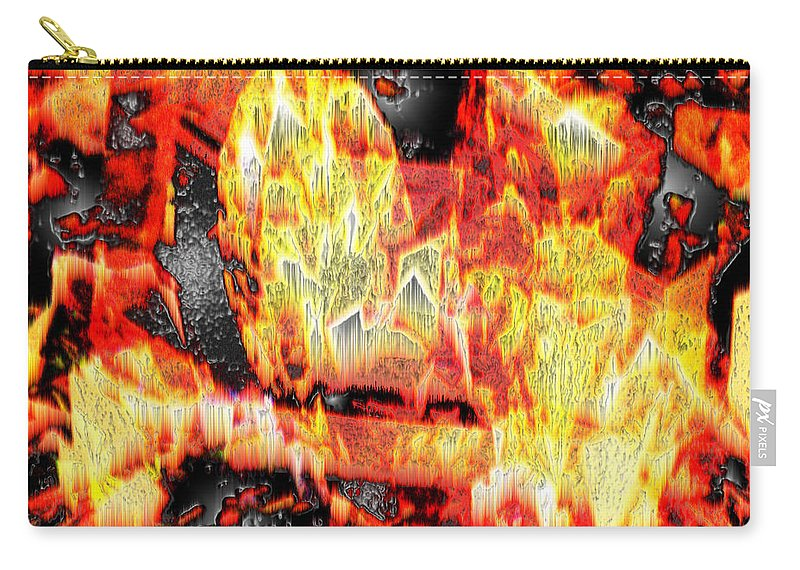 Abstract Carry-all Pouch featuring the photograph Flame Gems by Seth Weaver