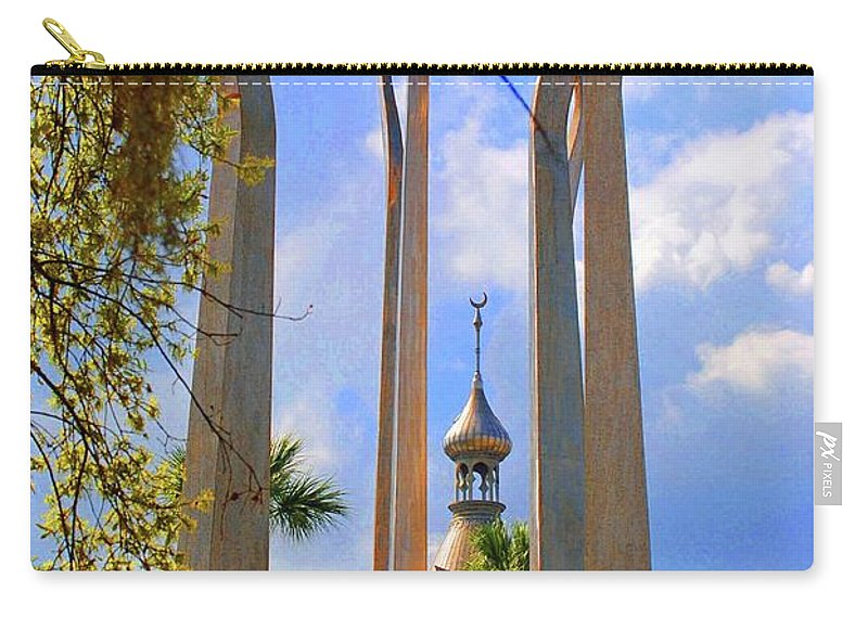 University Of Tampa Carry-all Pouch featuring the photograph flame of the Sky by Jost Houk