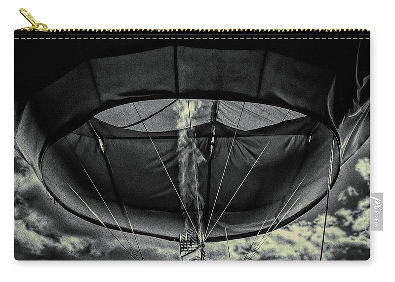 Flame Carry-all Pouch featuring the photograph Flame On Hot Air Balloon by Bob Orsillo