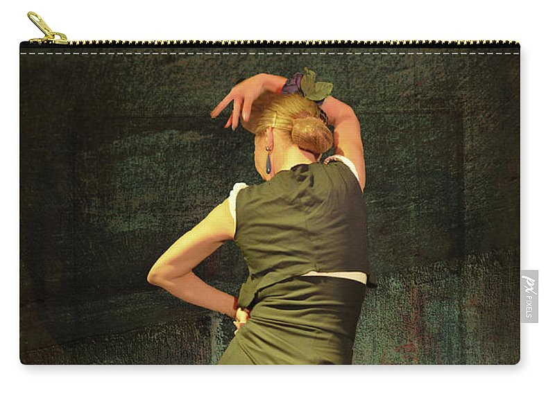Flamenco Carry-all Pouch featuring the photograph Flamenco #21 - Attitude by Mary Machare
