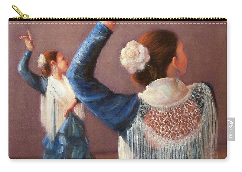 Realism Carry-all Pouch featuring the painting Flamenco 7 by Donelli DiMaria
