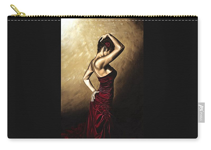 Flamenco Carry-all Pouch featuring the painting Flamenco Woman by Richard Young