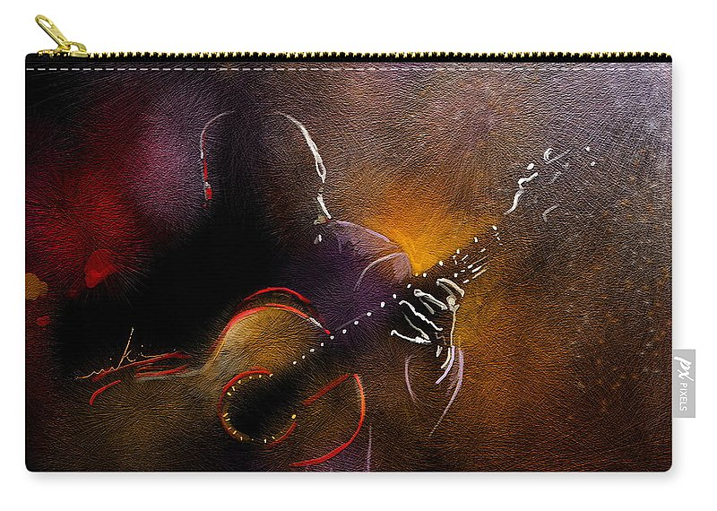 Music Carry-all Pouch featuring the painting Flamencoscape 14 by Miki De Goodaboom