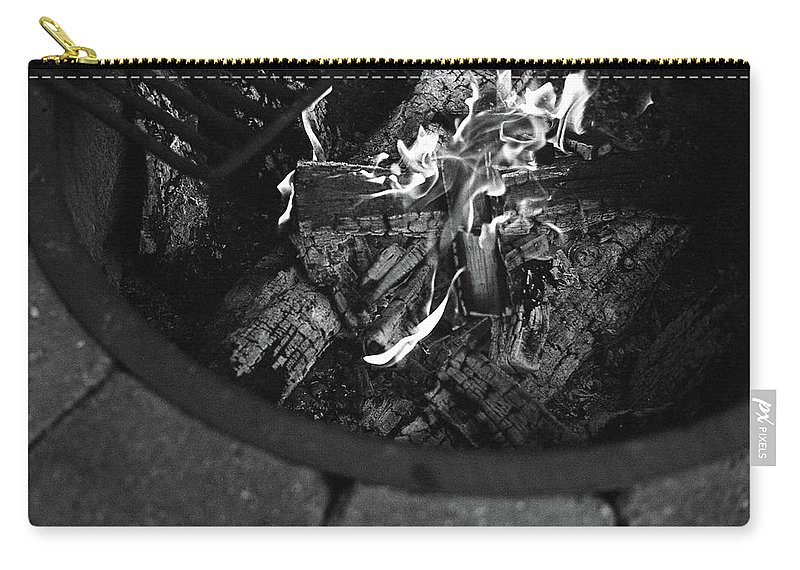 Flames Carry-all Pouch featuring the photograph Flames by Megan Greenfeld