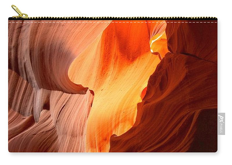 Arizona Desert Carry-all Pouch featuring the photograph Flames Under The Arizona Desert by Adam Jewell