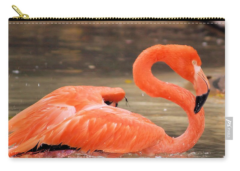 Flamingo Carry-all Pouch featuring the photograph Flamingo by Gaby Swanson